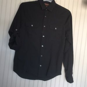 ❤️Perry Ellis Stretch Black Dress/Casual Shirt S